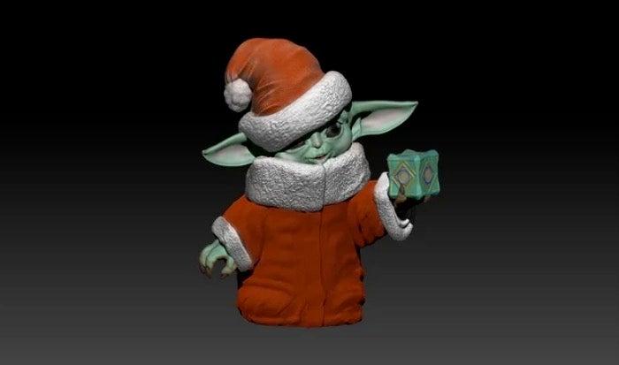 Baby Yoda Xmas 3D printed
