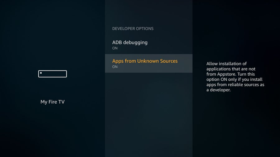 firestick enable Apps from Unknown Sources