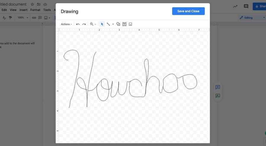 signature for google docs