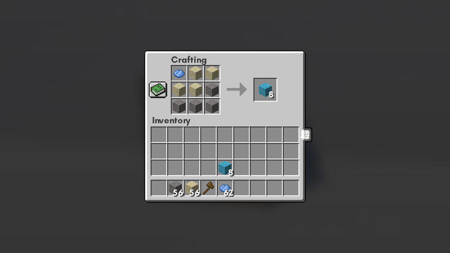 concrete powder recipe minecraft
