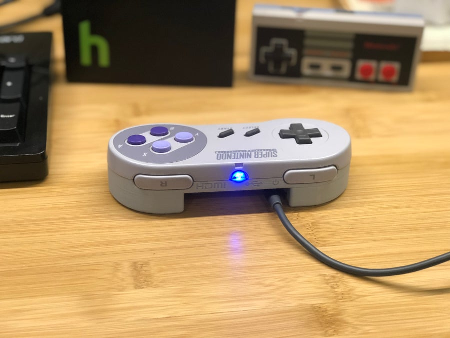 A Raspberry Pi in an SNES controller