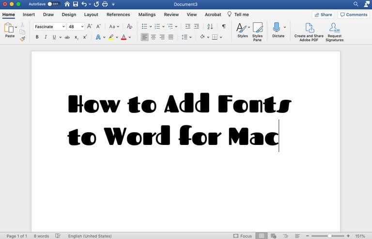 How to Fonts to Word for Mac Text in Word