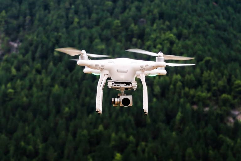 Drone over the forest