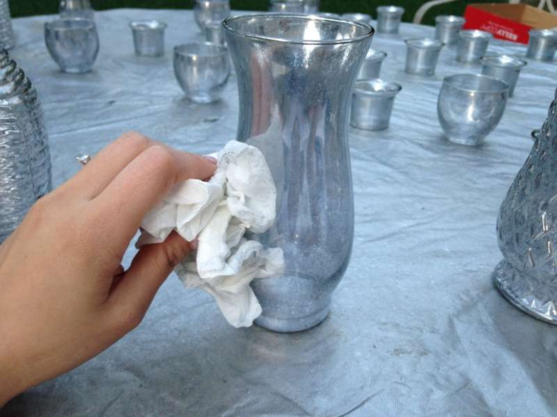 Blot The Glass With Paper Towels