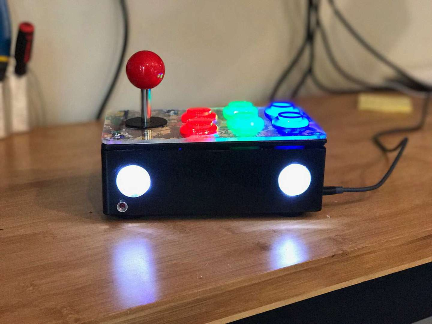 The Retrobox sitting on a table