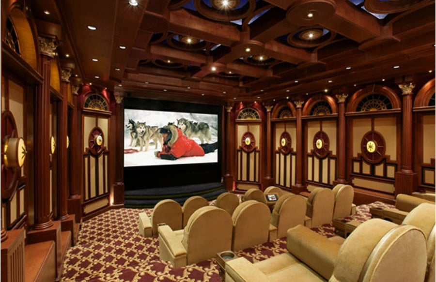 A home theater with a crazy origin story