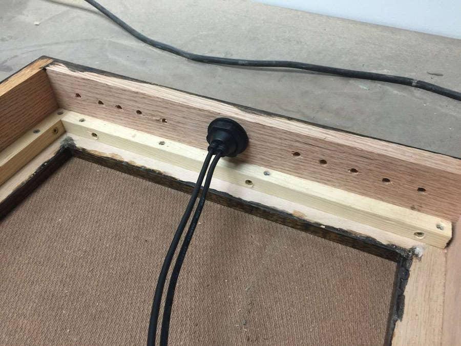 Drilling ventilation holes