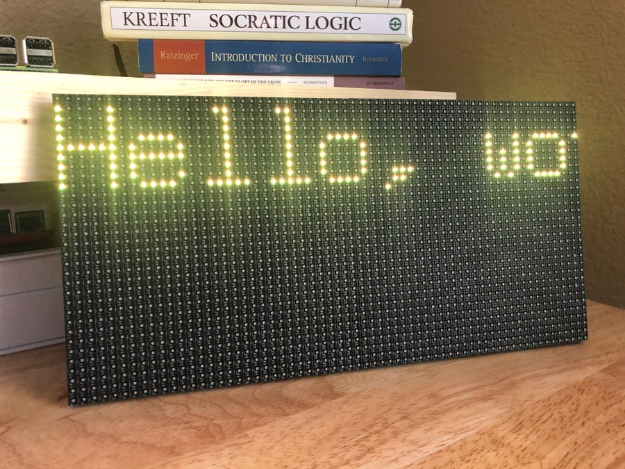 led matrix panel hello world