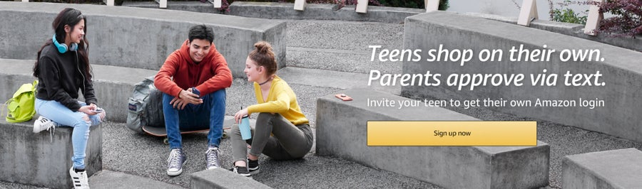 Amazon teen page banner.