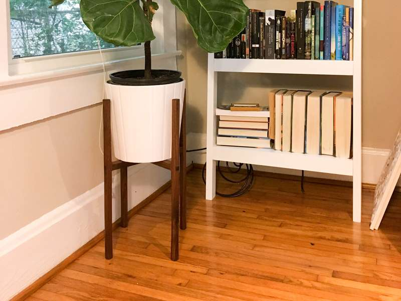 My DIY walnut plant stand!