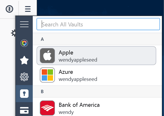 Windows and Mac Applications 1Password