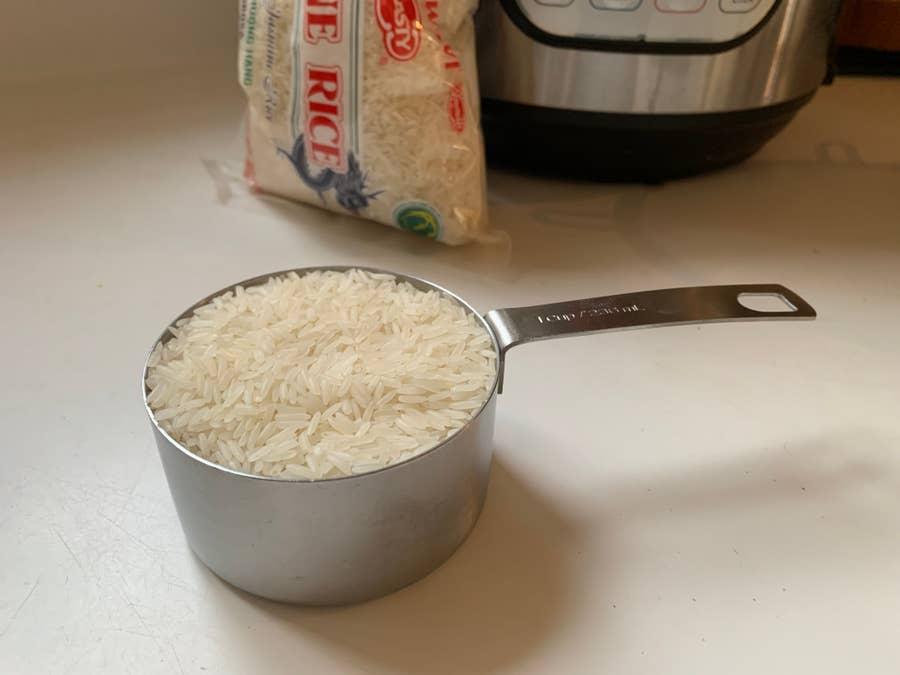 Dry measure rice