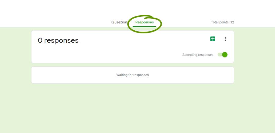 response tab google form notifications