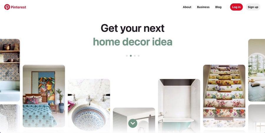 Pinterest homepage 2021