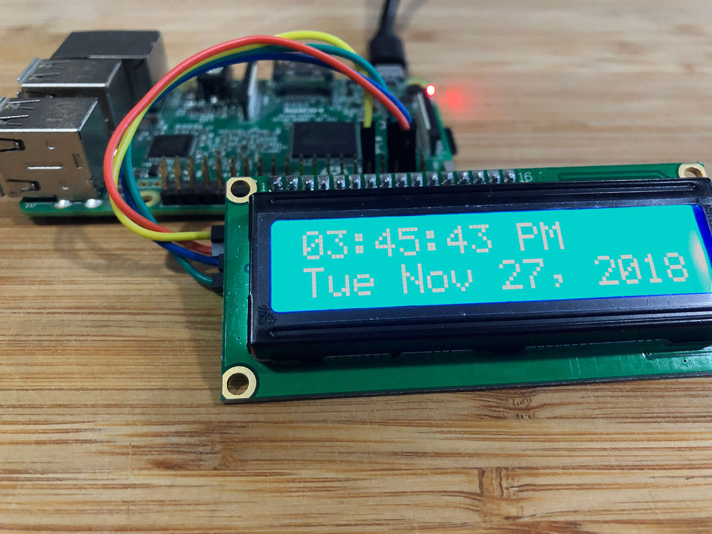 Raspberry Pi alarm clock