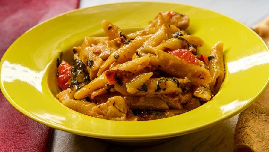 Tuscan chicken pasta.