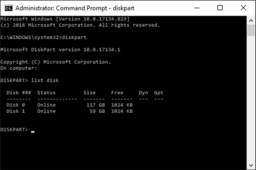 Format hard drive Command Prompt