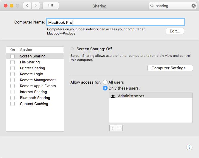 Change your Mac's Computer Name