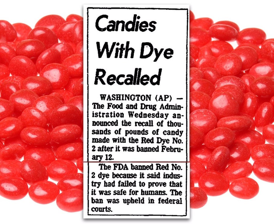 Red dye candies recalled no 2
