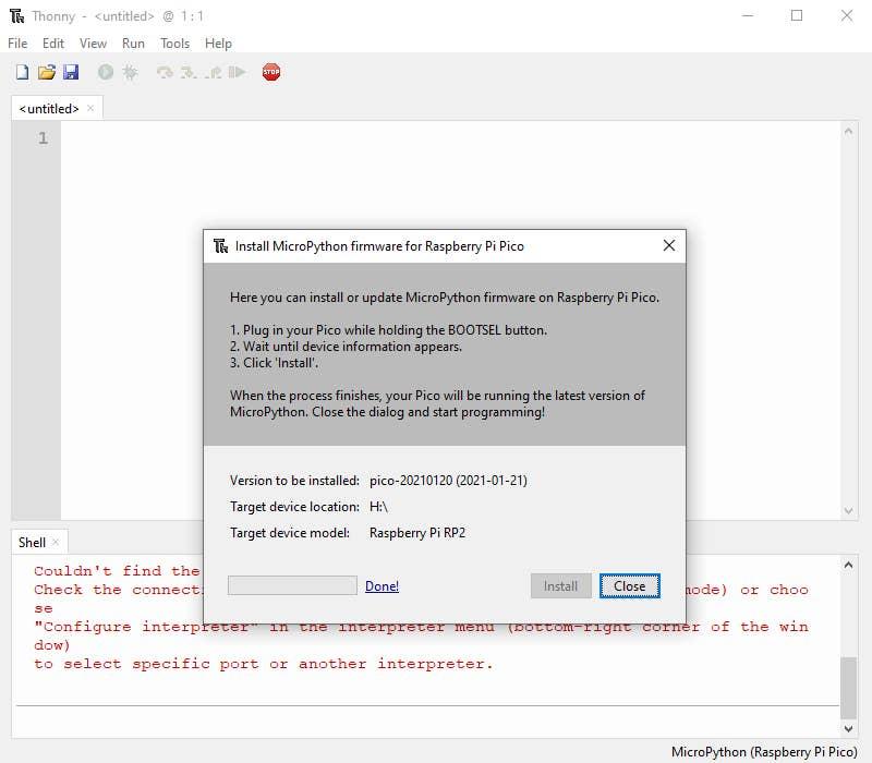 Install MicroPython Pico