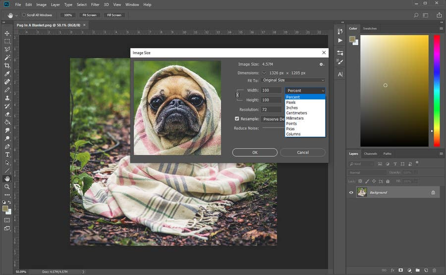 Photoshop Image Resize Options