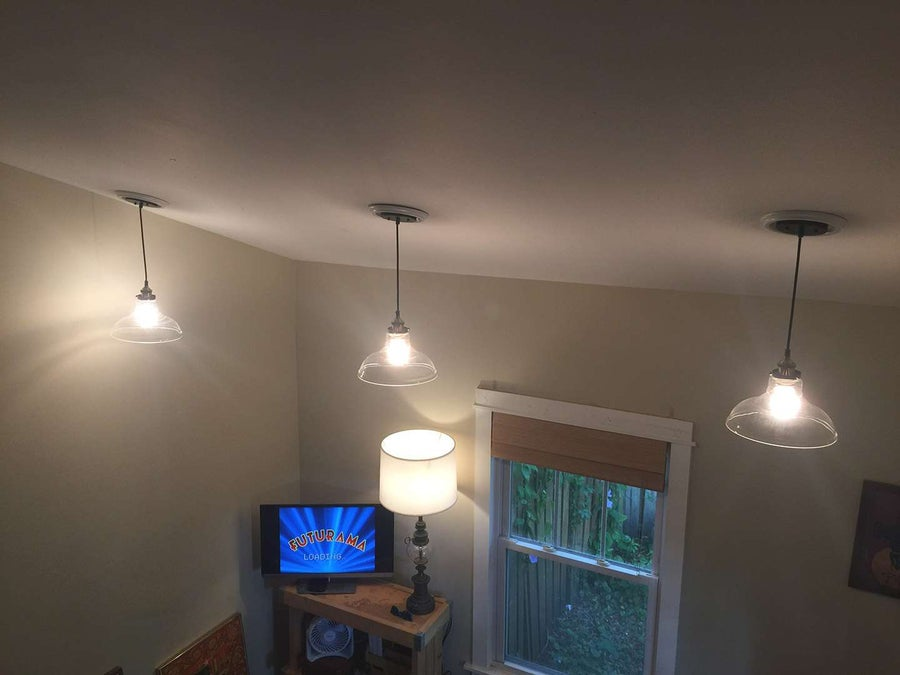 DIY Recessed Can Light to Pendant Light Conversion