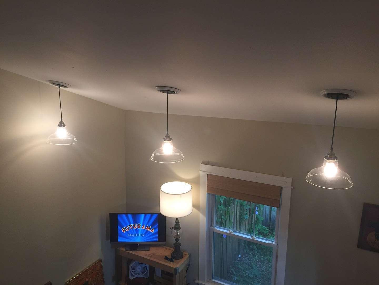 DIY recessed light to pendant light conversion