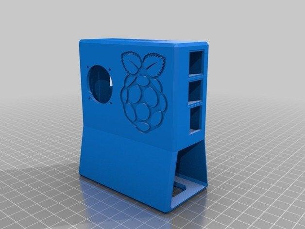 3D printed Raspberry Pi desktop tower case