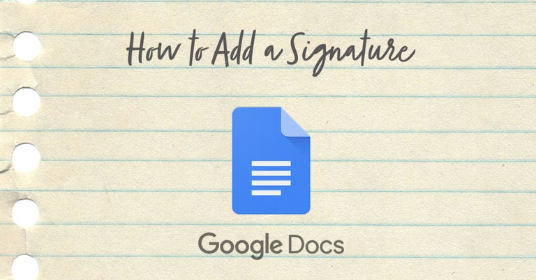 how to add signature google docs