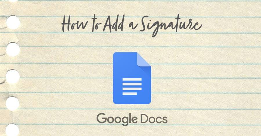 how to add signature google docs