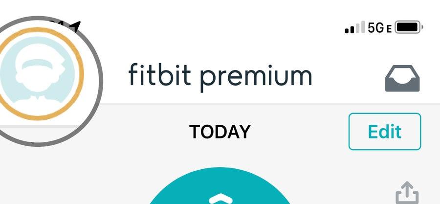 Profile button in Fitbit App
