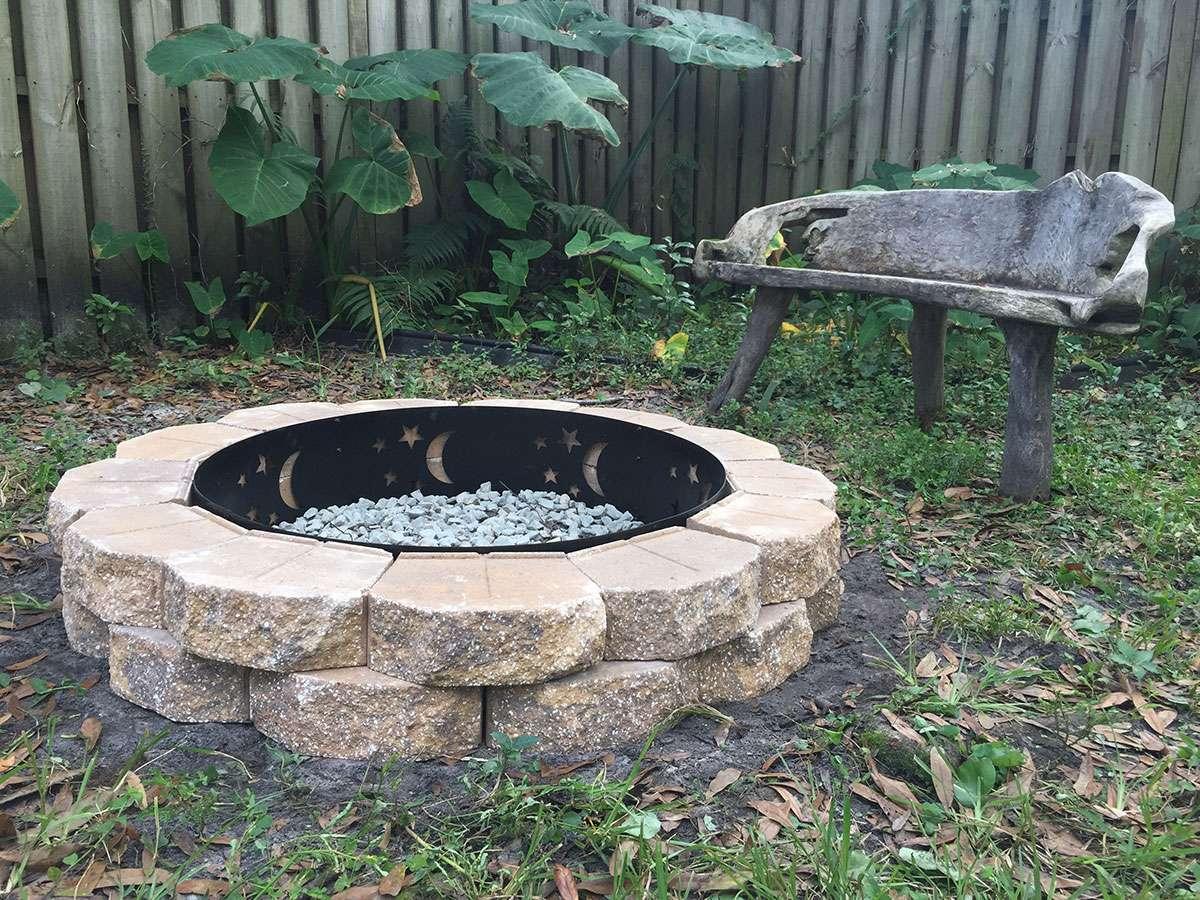 DIY stone firepit