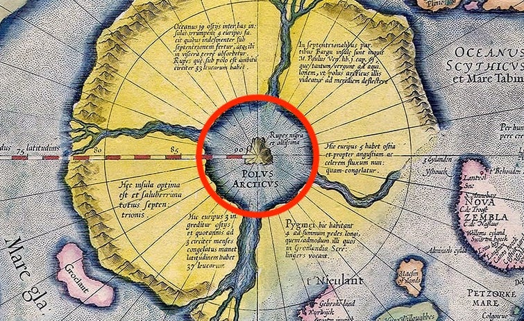 magnetic north pole island