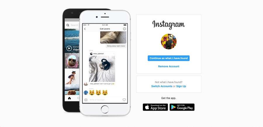 Instagram homepage 2021
