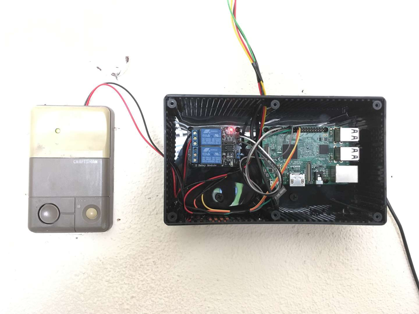 The completed garage door opener