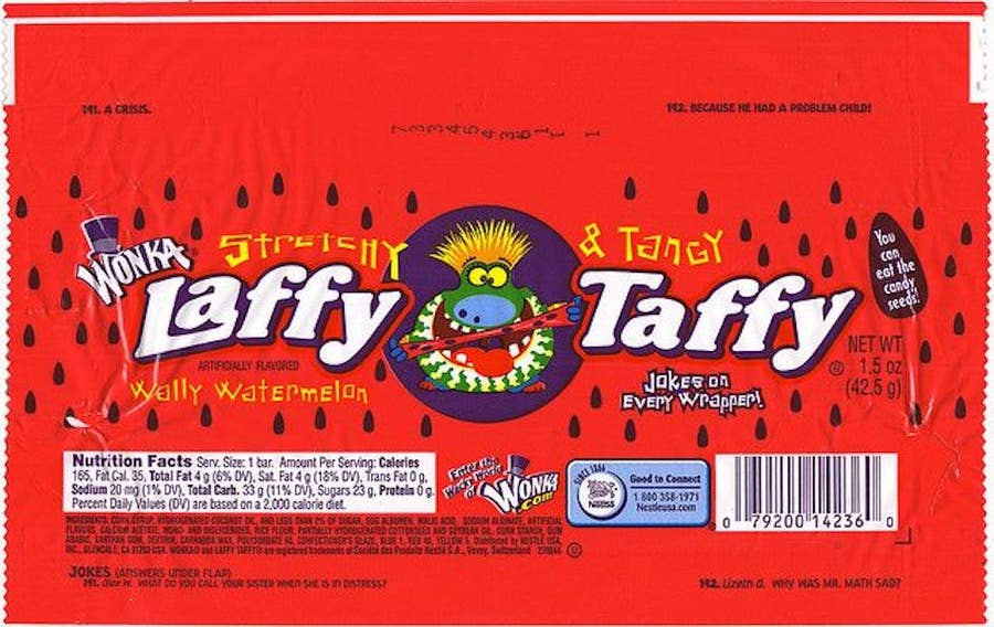 Watermelon Laffy Taffy with seeds