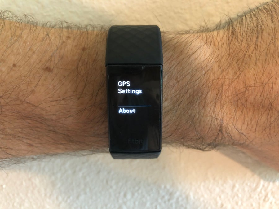 About button Fitbit Charge 4