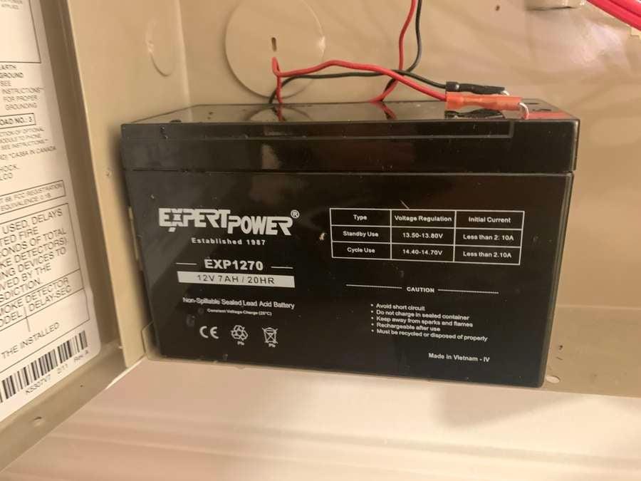 Installing new ADT battery