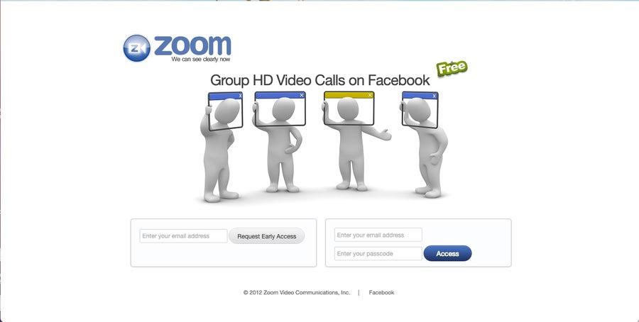 Zoom original homepage
