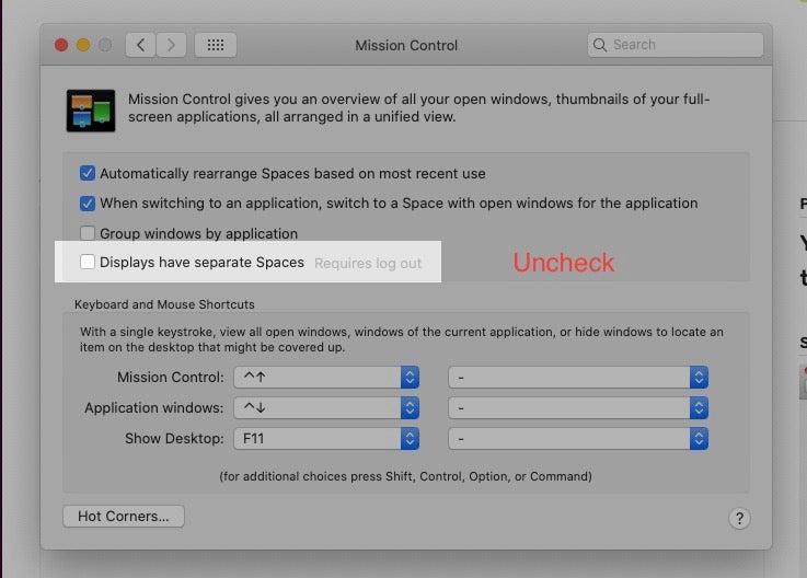 Remove Multiple Menu Bars Mac