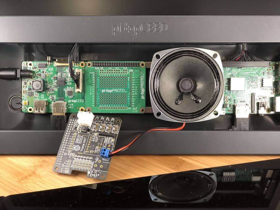 Connecting the Google Voice kit speaker