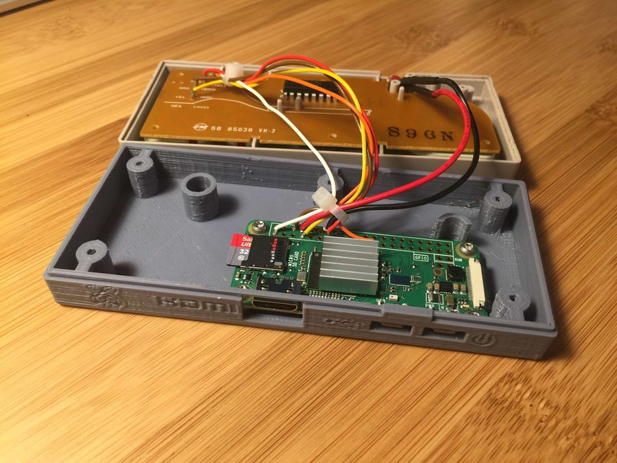 Raspberry Pi NES controller completed circuit