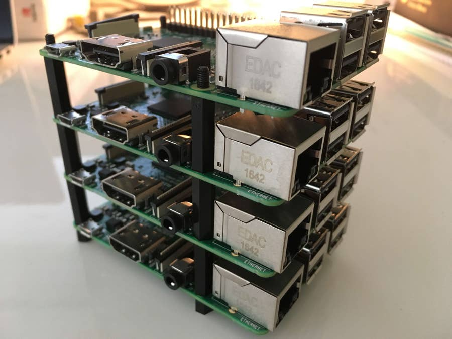 A tower of Raspberry Pis