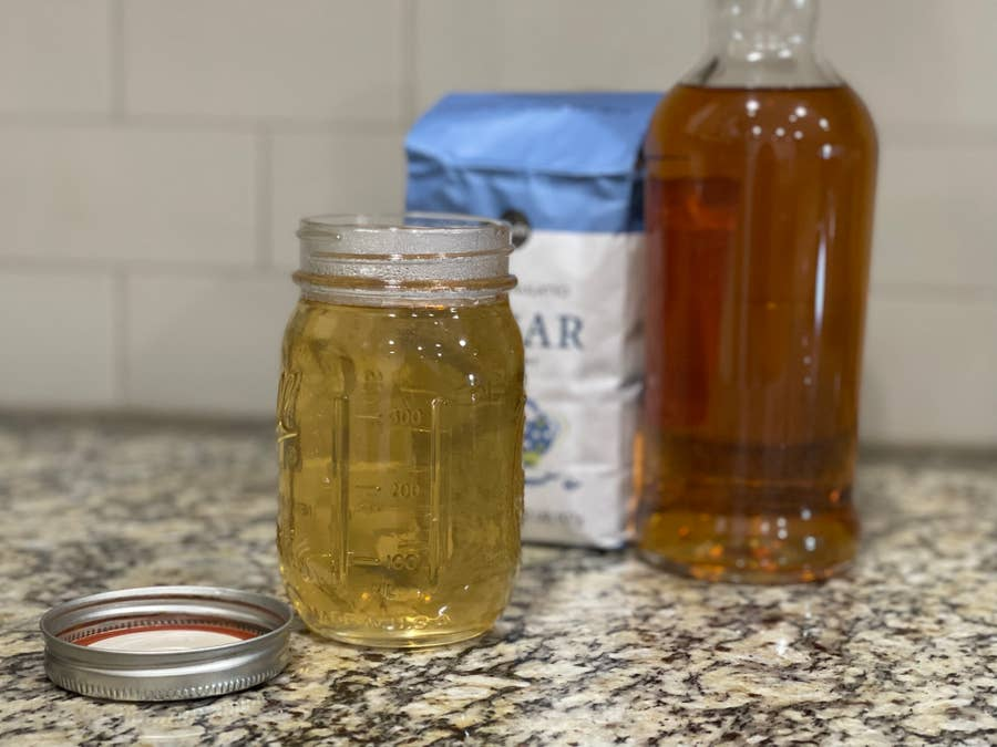 Whiskey simple syrup.