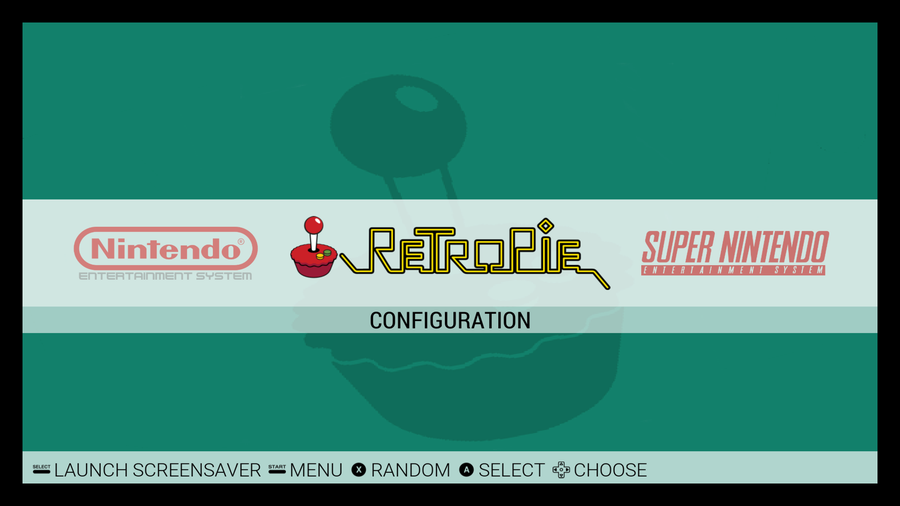 RetroPie Emulation Station screen