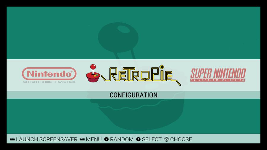 RetroPie Emulation Station screen
