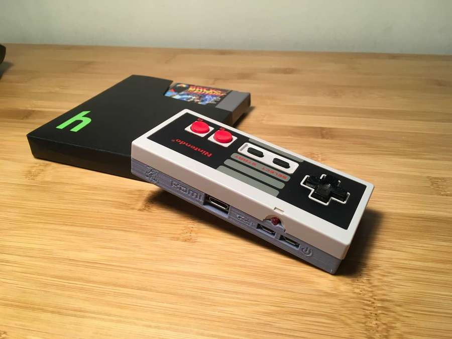 Completed Gamepad Zero Raspberry Pi in NES controller