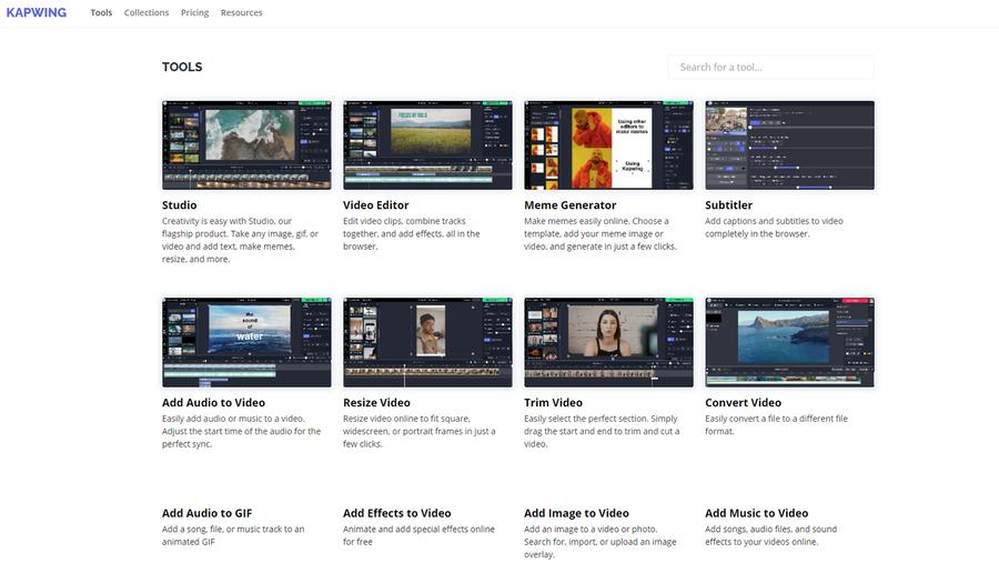 free content creation tool kapwing