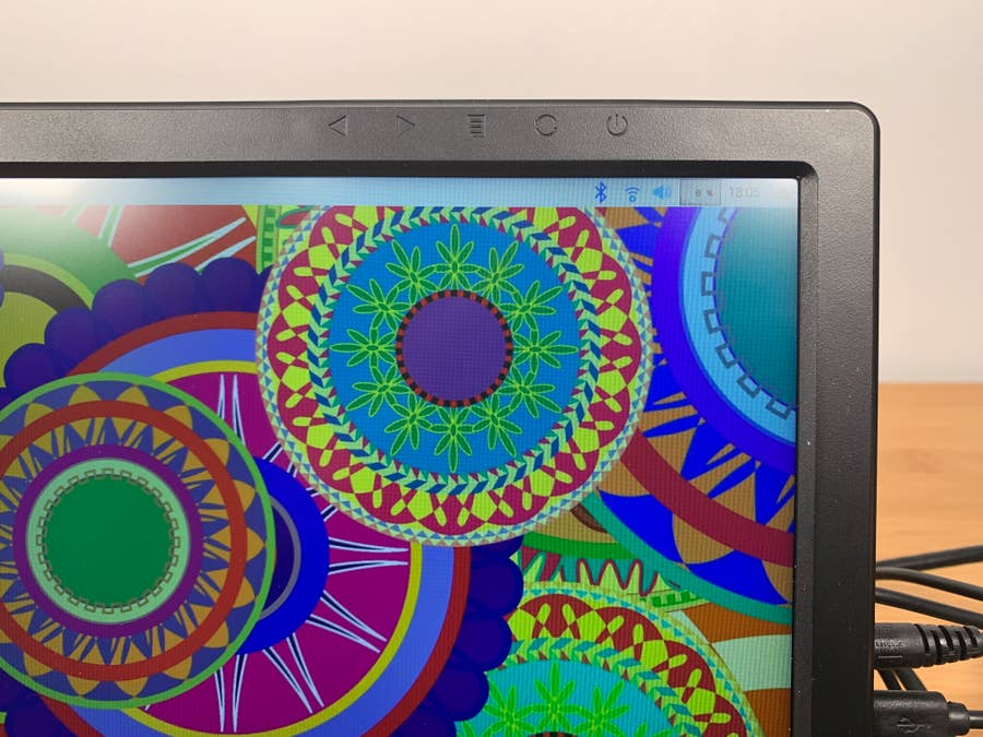 SunFounder 13.3-inch monitor close-up