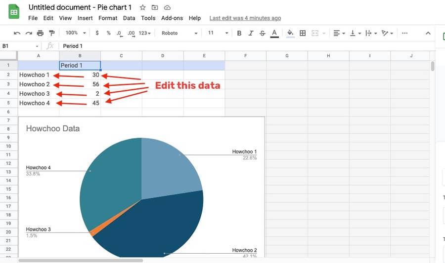 edit chart data google sheets